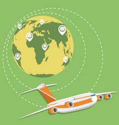 global network of commercial air cargo trucking vector image vector image