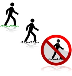 Walking on grass vector image vector image