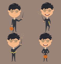 wizard boy vector image