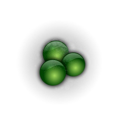 abstract three green points vector image vector image