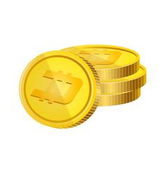 dash virtual money currency vector image