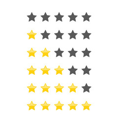 different star icons set vector image vector image