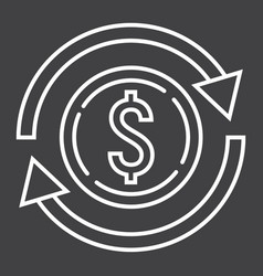 Exchange line icon business and finance dollar vector