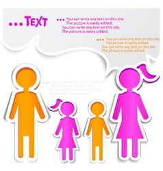 family talking paper bubbles for speech vector image vector image