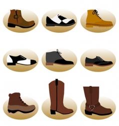 fashion man shoes vector image vector image