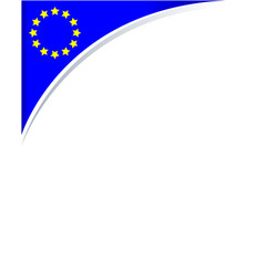 frame with the flag of the european union vector image