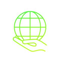 global sphere design vector image