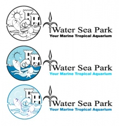 Sea park design elements vector