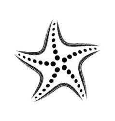 black stylized starfish vector image