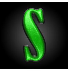 green plastic figure s vector image