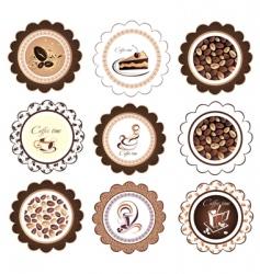 set of coffee design elements vector image