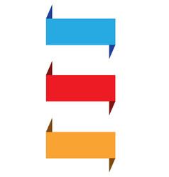 set ribbon banner on white background blue vector image