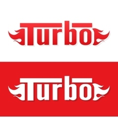 Turbo logo design vector image