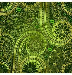 Vintage floral motif ethnic seamless background vector image vector image