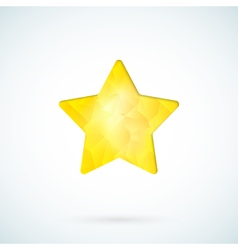 Yellow star geometric background vector image