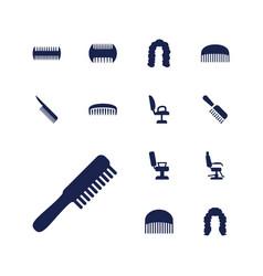 13 barbershop icons vector