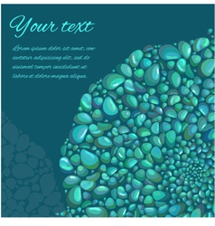Abstract background with decorative stones vector