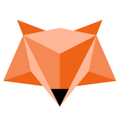 Abstract low poly fox icon vector