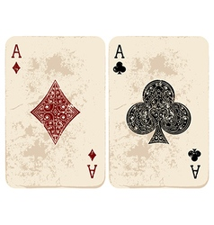 Ace of Diamonds and Clubs vector