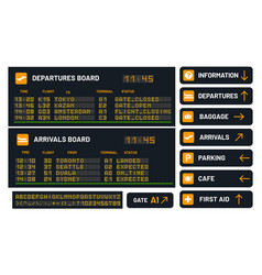 Airport board set for announcing flight vector