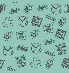 Algebra concept icons pattern vector