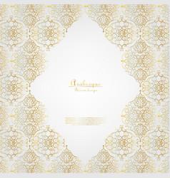 arabesque elegant gold flower background template vector image