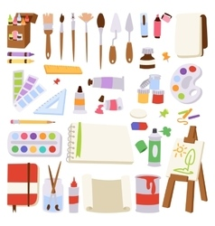 Artist icons vector image