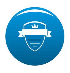 badge soldier icon blue vector image