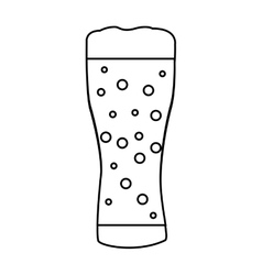 beer glass isolated icon vector image