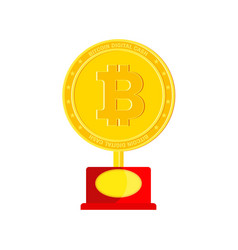 Bitcoin award icon vector