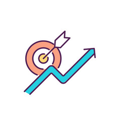 Boosting productivity rgb color icon vector