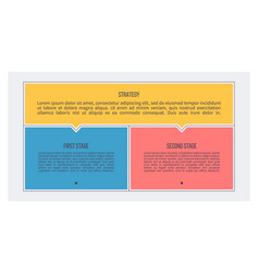 Business process chart with 2 steps options vector