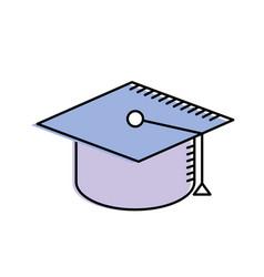 Cap graduation to ceremony sucess vector