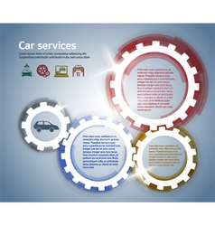 car service effect it brush gear glow background vector image