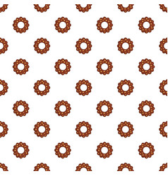 Chocolate biscuit pattern seamless vector