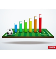 Concept statistics about the game of soccer vector image