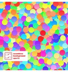 Confetti Seamless Background vector image
