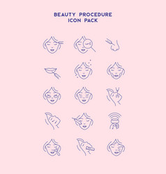 cosmetology line icons set cosmetic surgery vector image