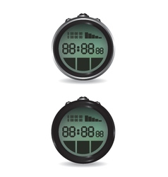 Digital stopwatch vector image