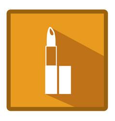 Emblem lipstick makeup icon vector