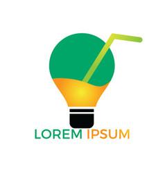 energy juice logo design vector image