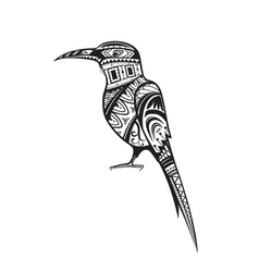 Ethnic ornamented bird vector