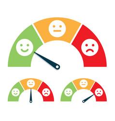 Feedback concept valuation by emoticons vector