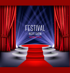 Festival night show poster showroom background vector