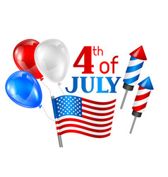Fourth july independence day greeting card vector