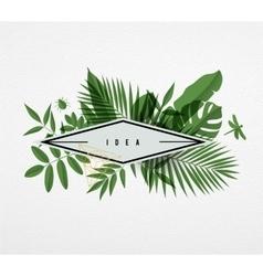 Frame floral frame green vector image