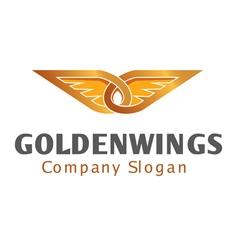 Golden Wings Design vector