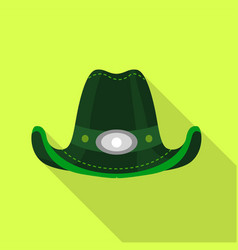 green hat icon flat style vector image