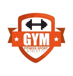 gym fitness sport athletic barbell banner vector image