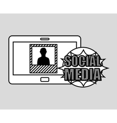 hand drawing picture profile social media mobile vector image